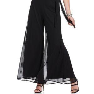 Onyx Nite Petite black wide leg dress pants P3X
